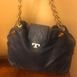 Tory Burch blue leather purse